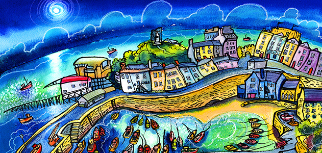 Beautiful Harbour Tenby by Dorian Spencer Davies