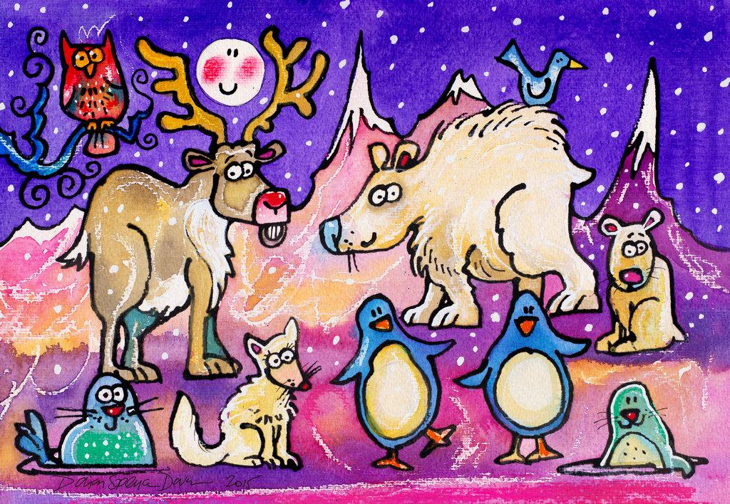 winter animals DSD