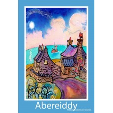 Abereiddy Cottages Poster Print