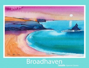 Broadhaven South Poster Print