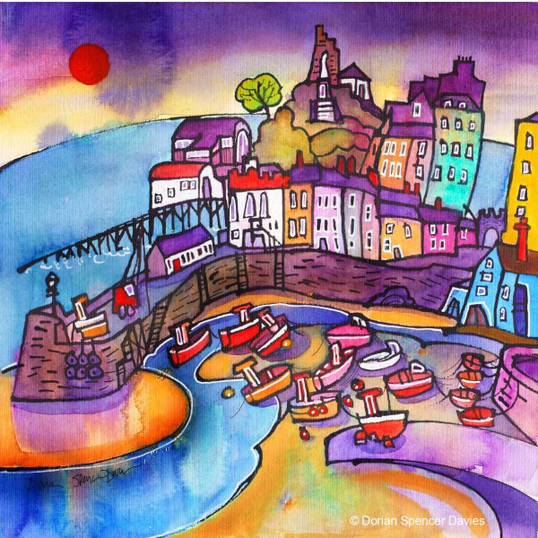 Morning Tide, Tenby Canvas