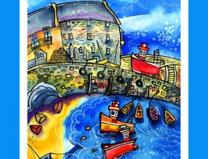 New Quay Welsh Poster Print